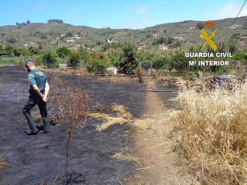 Detenido un hombre por el incendio del pasado junio en Pino Santo