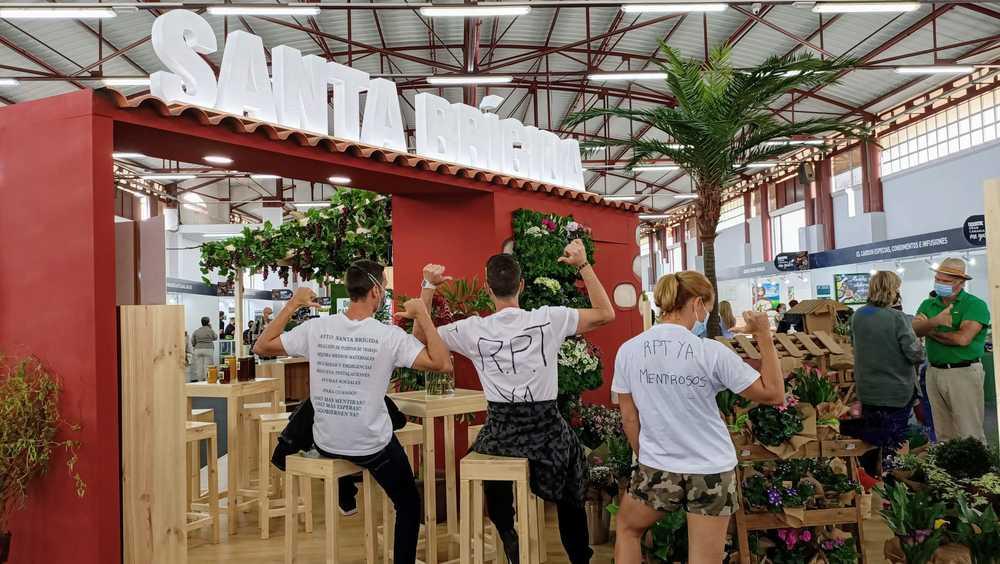 Nueva movilización de empleados públicos en Santa Brígida