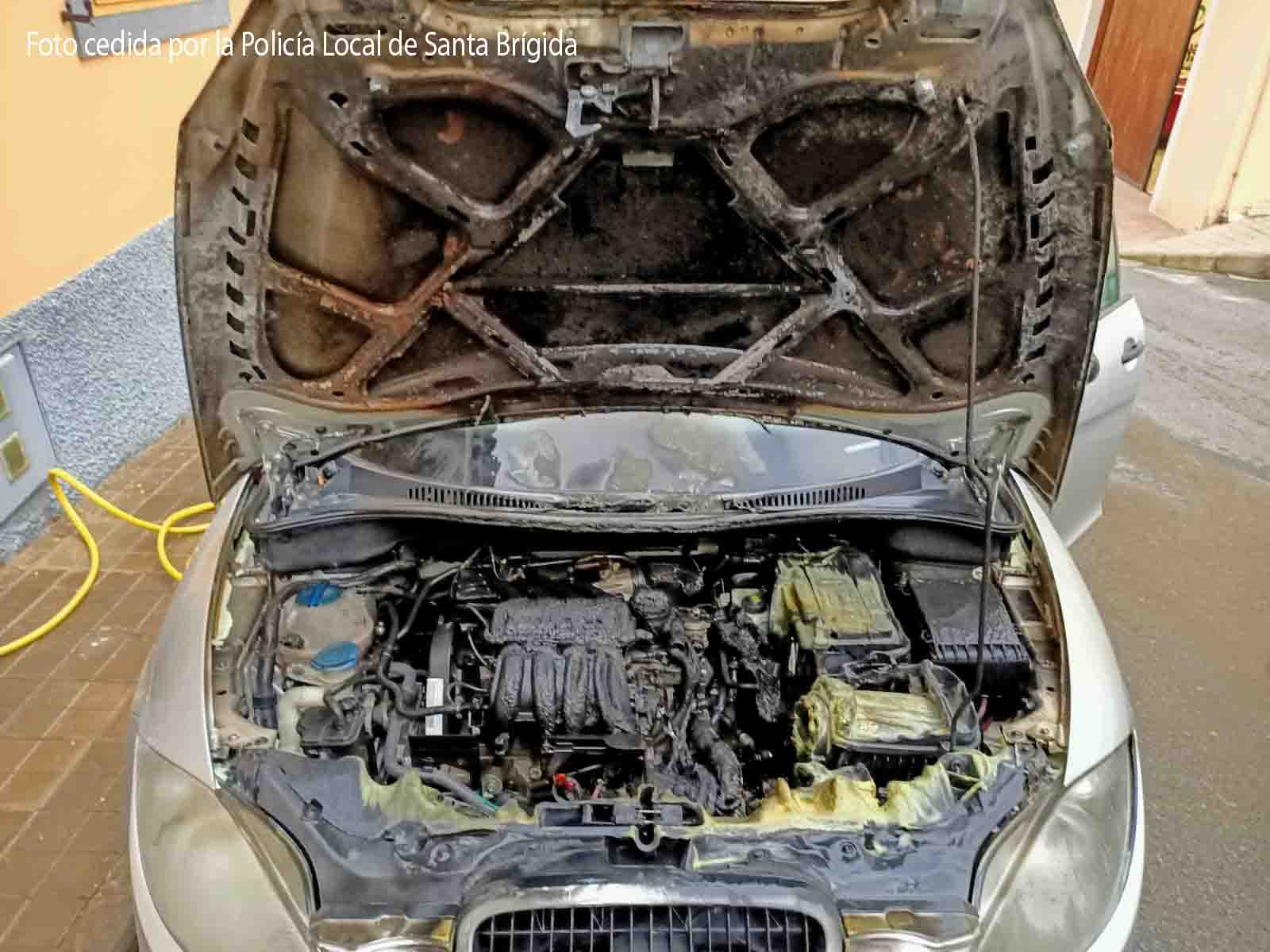coche ardio en las meleguinas