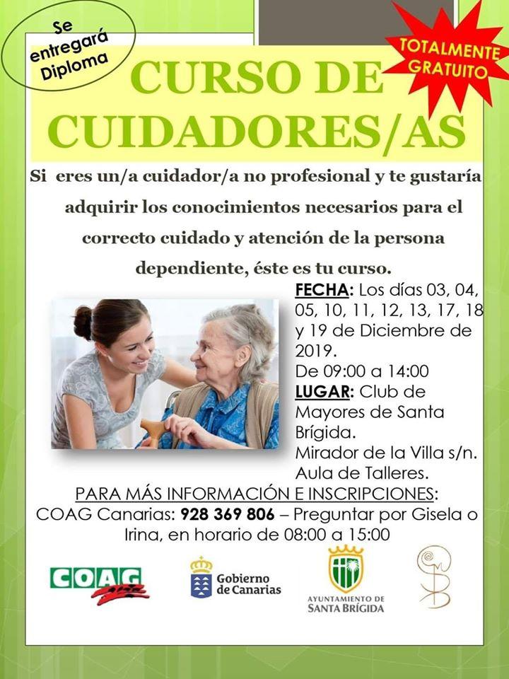 Curso para cuidadores en Santa Brígida